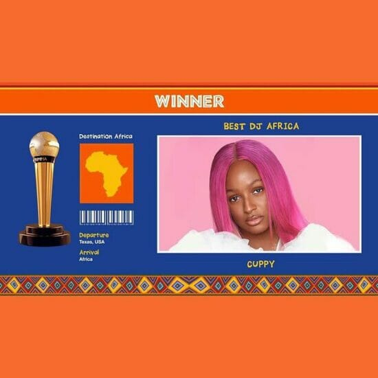 DJ Cuppy celebrates being the first Female DJ to win AFRIMMA 'Best African DJ'