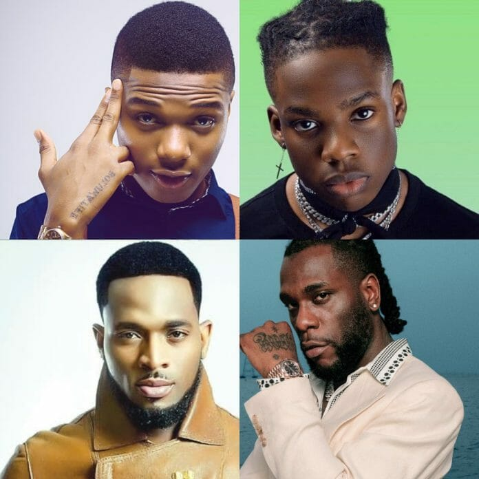 African artists that have debuted on the UK singles chart